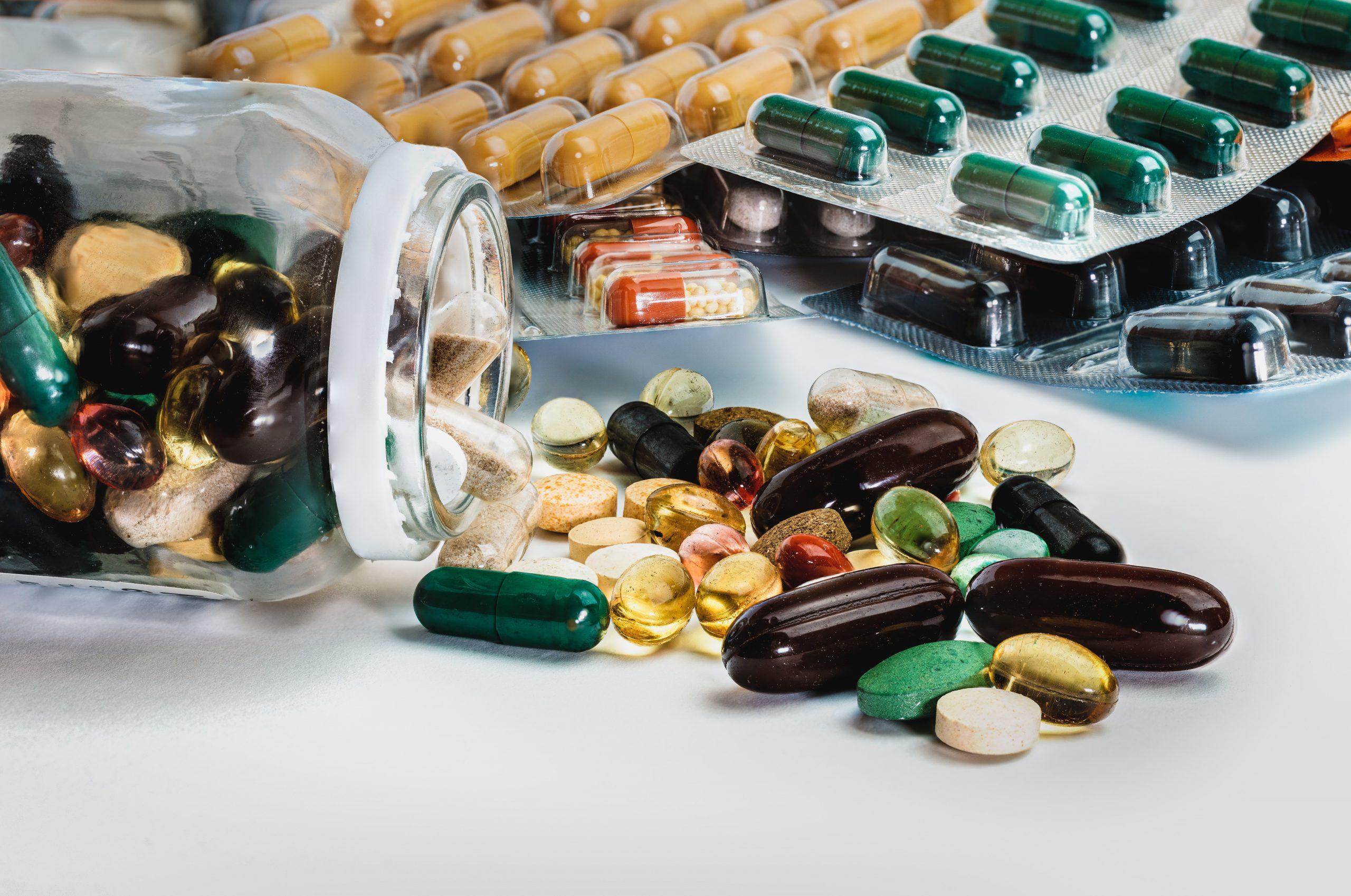 various medicinal pills